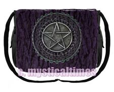 NEW * PENTAGRAM * PURPLE GOTHIC WICCA  MESSENGER BAG SHOULDER BAG WITH FREE POST