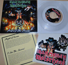 "Iron Maiden Motörhead 7"" single Best of the Beast Pt. I clear vinyl RARE!"