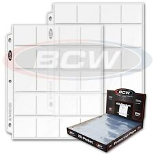 10 BCW 20 Pocket Coin 3 Ring Album Pages 2 x 2 Holders Sheets Polypropelene