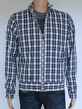 Firetrap mens Size M lightweight blue check cotton jacket