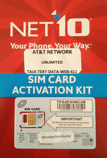 - Net10 Nano Sim Card fits iPhone 5 At&t Network Unlimited Service