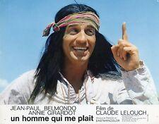 JEAN-PAUL BELMONDO UN HOMME QUI ME PLAIT 1969  VINTAGE LOBBY CARD N°1