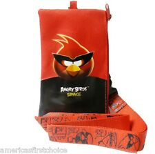 ANGRY BIRDS RED LANYARD WITH DETACHABLE COIN POUCH/WALLET/PURSE BY ROVIO-NEW