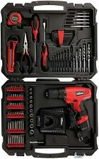 Cordless Drill Set Driver Kit With Lithium Battery And Charger 12 Volt 100 Piece
