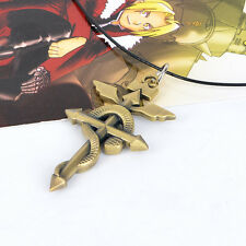 Cosplay Fullmetal Alchemist snake Logo sign necklace Chain pendants Collection
