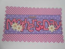 PK 2 MOTHERS DAY HEART &  FLOWERS EMBELLISHMENT TOPPERS FOR CARDS/CRAFT