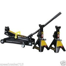 Torin T82011W 2-Ton Hydraulic Trolley Lift Jack + (2) Jack Stands New Free Ship