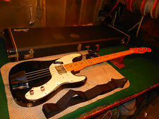 Vintage 1977 Fender Telecaster USA Bass Guitar With Case Rare Black