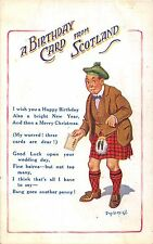 POSTCARD   COMIC  DONALD  McGILL   A  Birthday  Card from  Scotland....