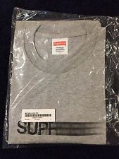 Supreme Motion Logo Grey Large T Shirt Tee S/S16 Receipt In Hand New L Gray
