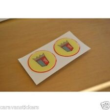 TABBERT - (RESIN DOMED) - Caravan Wheelcap Stickers Decals Graphics - PAIR