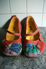 ART MARY JANE SHOES UK6/39 - RED - LEATHER/SUEDE/FABRIC **EXCELLENT CONDITION**