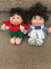 LOT OF TWO Cabbage Patch Fairy Dolls 1995 Holiday HOLLY & WINTER FAIRY
