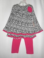 Toddler Girls Fisher Price Tunic and Leggings Outfit Zebra Print Size 24M NWT