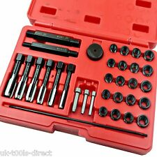 Glow Plug Thread Repair Tool Kit Set 33pc Cylinder Heads M8 M10 M12 M14