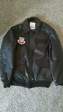 Leather++ Men's Air Force A-2 Leather Flight Bomber Jacket - fighter pilot jacke