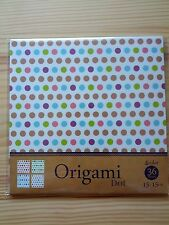 Japanese Dot Pattern Chiyogami Origami Paper Made in Japan - 36 Sheets, 4 Colors