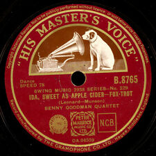 BENNY GOODMAN QUARTET  Ida, sweet as apple cider / Dizzy spells   78rpm  X1283