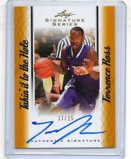 (T59) 12-13 Terrence Ross Leaf Signature Series GOLD TAKIN IT HOLE AUTO RC #D/25
