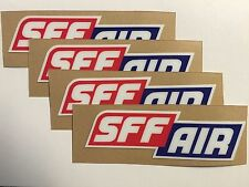 Showa SFF AIR Upper Fork Stickers 4 PACK - Thick 16mil KYB A Kit Pro Circuit