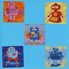 10 Robots - Large Stickers - Party Favors