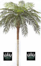10 foot Artificial Phoenix Palm Tree Silk Date Coconut Sago & Christmas Lights