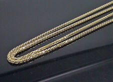 "Brand New Palm Chain For Men 10K Yellow Gold 26""  3mm A8B7 Franco, Rope, Cuben"