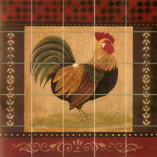 Art Mural Ceramic Rooster Backsplash Decor Tile #142