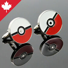 Cufflinks Pokemon Ball GO Card Game Unisex Mens Pokeman Cuff Links Brand New