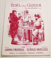 Partition sheet music BARON / MORTREUIL / VARGUES : Le Noël des Gueux * 18ème