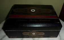 "PERDOMO 20th ANNIVERSARY Black Wooden Cigar Box 8-1/4"" x 3-1/8"" x 6-3/8"""