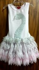 "New Spring 2016 Kate Mack ""Swan princess"" pink/silver tutu dress,2T,NWT"