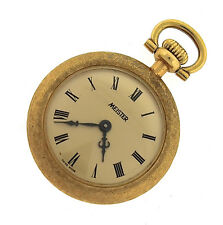 Antique Meister 18K 750 Yellow Gold Mechanical: Hand-Winding Mini Pocket Watch