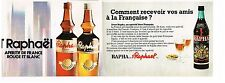 Publicité Advertising 1972 (2 pages) Apéritif St Raphael et Rapha