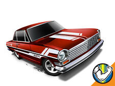 Hot Wheels Cars - '63 Chevy II Red