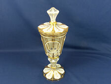 Rare Harrach Bohemian Glass 1861 Presentation Goblet Pokal Cut to Clear  AS IS