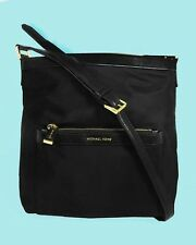 MICHAEL KORS MORGAN Black Nylon/Leather MD X-body Bag Msrp $128