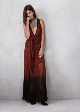 $579 Free People Denver Dreaming Maxi Dress Nicholas K Sz S FLAW Ombre DipDyed