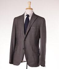 NWT $1695 BOGLIOLI 'Eton' Light Brown Birdseye Wool Suit Slim 42 R (Eu 52)