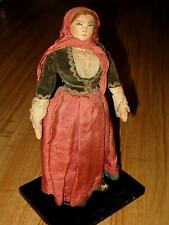 "Antique,Russian 10"" Cloth Stockinette Doll, Hand-Painted Face,Ethnic Clothes"