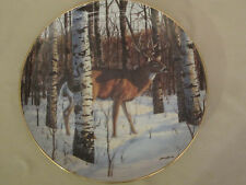 BIRCH GROVE BUCK collector plate BRUCE MILLER Wildlife DEER Woodland Royalty
