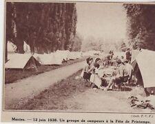 1938  --  MANTES  12 JUIN 1938  GROUPE DE CAMPEURS DETE DE PRINTEMPS   3E715