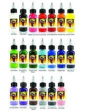 SCREAM TATTOO INK 20-PACK Color Set 1/2-oz Bottles Black Bright Vibrant Supply