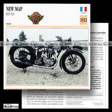 #023.08 NEW MAP BYS 500 1932 Fiche Moto Classic Motorcycle Card