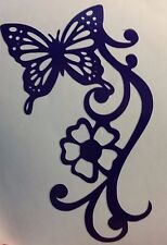 Window sticker..Butterfly and flower Vinyl Decal