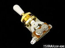 *NEW 3 Position Toggle Switch for Epiphone Les Paul Guitars Gold, White Tip