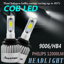 PAIR  9006 120W 12000LM PHILIPS LED Headlight Kit Beam Bulbs 6000K High Power