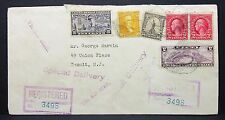 Bishop registered Stamp Airmail cover us Special Delivery pair 44c carta i-7846+