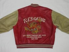 *REDSKINS LEDERJACKE*DRAGON TEDDY DA HANG HUE*ROT BEIGE*VINTAGE*GR:  XL*TIP TOP