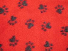 """POLAR fleece ANIMAL baby paw puppy dog zebra zoo Print FABRIC 2 yards 72""""X60"""""""